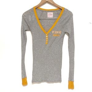 VS PINK thermal Henley long sleeve Tennessee shirt